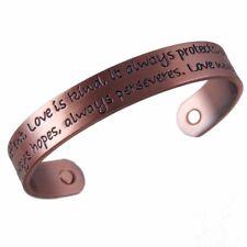 Venetti MAGNET THERAPY Copper LOVE Poem BANGLE Arthritis Pain HEALTH BRACELET