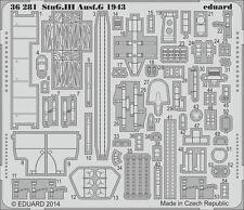 Eduard 1/35 PE Foto-Grabado conjunto de detalle de Dragón StuG III Ausf. G 1943 #6578