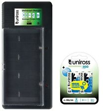 UNiROSS UNIVERSAL AA/AAA/C/D/PP3 BATTERY CHARGER+ 4 x AA (R6) 800 mAh BATTERIES