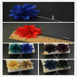 Handmade Simple Women Men's Suit Brooch Chest Buckle Lapel Pin Fabric Corsage