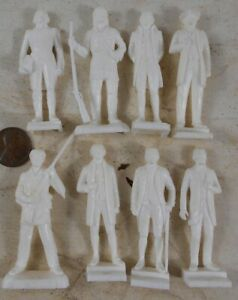 Lot of Vintage 1960's Soft Plastic Famous People Davy Crockett Grant Boone