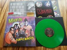 Misfits - Famous Monsters - 2018 green vinyl numbered LP + insert + stickers NEW