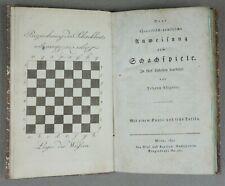 1811 - SCHACH - Johann Allgaier - LEHRBUCH Kupfer Schachspiel chess