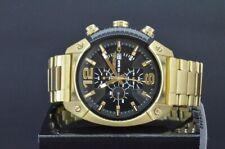 NEU Diesel DZ4342 Herrenuhr Armbanduhr Chronograph Edelstahl Gold Schwarz 49 mm