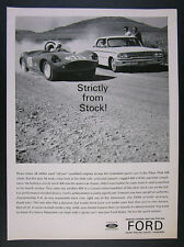 1962 Ak Miller Devin Sports Car Ford Galaxie 406 V8 Engine vintage print Ad