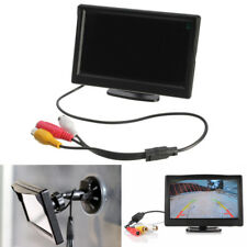 "5"" TFT-LCD Screen Car Rear View Rearview Monitor + Stand Reverse Backup Camera"