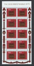 Scott B564 / Michel 1023: Germany 1979 Stamp Day Miniature Sheet of 10, VF-NH