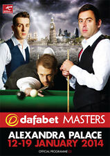 * 2014 MASTERS SNOOKER OFFICIAL PROGRAMME *