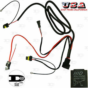 H1 H8 H11 HB4 880 881 Xenon HID Conversion Kit Relay Cord Cable Wire Harness