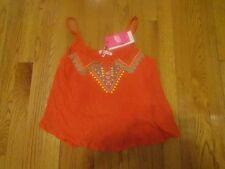 Pop Cafe girls shirt with spaghetti straps orange size 12