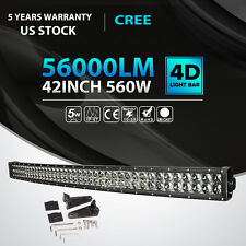 "42INCH 560W Curved LED Light Bar Flood Spot Offroad Driving Fog Lamp PK 50"" 52"""