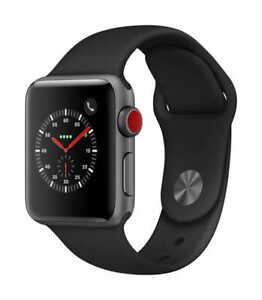 NEW Apple Watch Series 5 44mm GPS+Cellular Space Gray Case with Black Sport Band