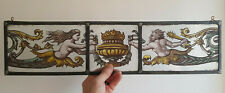 Vintage Stained Glass Fragment of Greek Gods.