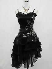 Cherlone Plus Size Black Prom Ball Evening Bridesmaid Knee Length Dress 20