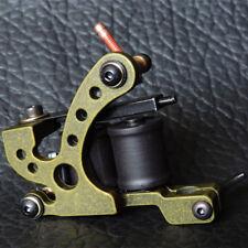 Iron Electric Tattoo Machine Gun 10 Wrap Coils Liner Carbon Steel BLACK