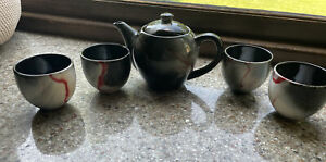 TEAVANA Fine Stoneware Koi Tea Pot With Lid, Infuser and Cup Japan 2014
