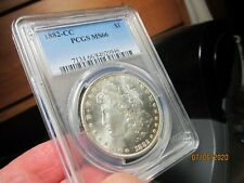 UNREAL EYE APPEAL ON THIS MORGAN DOLLAR 1882-CC  PCGS  MS-66  STONE COLD WHITE