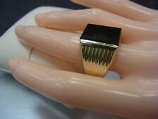 585er Gelbgold Ring mit Onyx Ringgroße 67,5 Kopf 1,66x1,29 cm Gewicht 8,3 Gramm