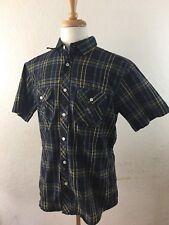 Paper Denim And Cloth PD&C Short Sleeve Button Front Shirt Plaid