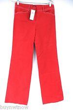 BCBG Maxazria Jeans Pants Red Poppy Canvas NWT Sz 2/33 Straight Leg
