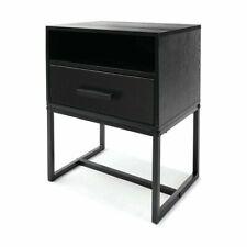 New Side Drawer Bedside Lamp Table Cabinet Wood Nightstand Bedroom HZ