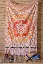 INDIAN COTTON WALL HANGING TAPESTRIES OMBRE MANDALA HIPPIE BOHEMIAN THROW DECOR