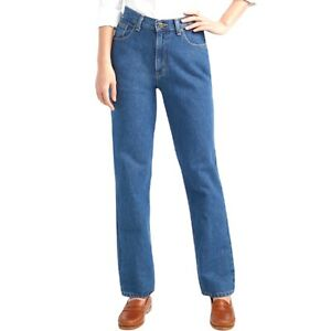 Vintage LL Bean Relaxed Fit High Waist Blue Jeans Womens Size 16 Tall Med Wash