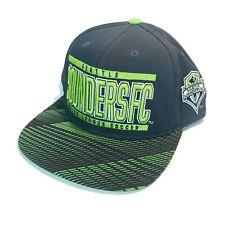 Adidas Seattle Sounders FC Snapback Hat Blue & Green MLS Soccer Futbol EUC!