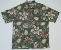"Vintage Auth Campia Moda Tropical Leaf Hawaiian Shirt  50""-127cm XL (476H"