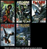 Villains For Hire 0.1 1 2 3 4 Marvel 2011 Complete Set Run Lot 0.1-4 VF/NM