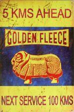 GOLDEN FLEECE 5KMS AHEAD All Weather Metal Sign 450x300