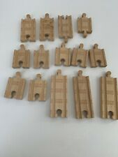 Thomas And Friends Wooden Train 14 Pieces of Straight track Small And Medium