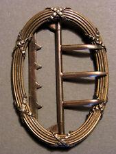 BOUCLE de CEINTURE ANCIENNE XIXème VERMEIL OR sur ARGENT 4 Poinçon dont  SANGLIER d6226018aab
