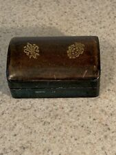 Vintage Leather Small Jewelry Box