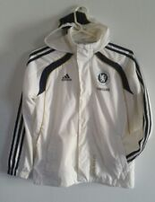 ADIDAS CHELSEA FOOTBALL CLUB Soccer Full-Zip Track Jacket w/ Hood Sz M