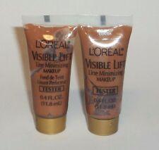 2 L'OREAL Visible Lift Line Minimizing Makeup/Foundation COCOA Sample 0.4 fl oz