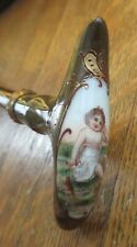 Antique Umbrella Hand-Painted Child Porcelain Portrait
