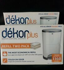 Dekor Plus Diaper Bags Refill Two (2) Pack Count Refills - New