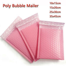 50PCS Poly Bubble Mailer Envelope Padded Bag Pink Cushioned Mailers 4 Sizes