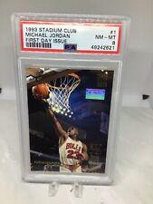 1993 Stadium Club #1 First Day Issue Michael Jordan PSA 8 Freshly Graded