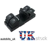 Chrome Electric Master Window Panel Switch For VW Passat Golf MK5 MK6 Jetta Polo