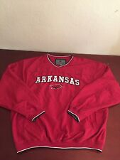 University Of Arkansas Cardinal, White, And Black  Pullover Size L