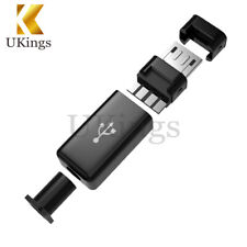 10PCS Micro USB Tipo B Macho Plug Conector Kit con cubierta de plástico para bricolaje