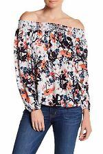 PARKER Wisteria Floral Print Off The Shoulder Blouse Top Size M NWT $242