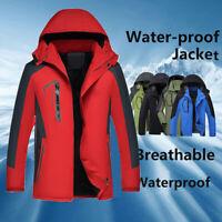 Men Warm Coat Jacket Fleece Lined Waterproof Ski Snowboard Zipper Winter Outdoor