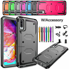 For Samsung Galaxy A70 Phone Case Shockproof Protective Hard Cover + Accessories