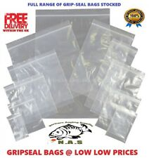 More details for 100 grip seal bags clear plain self sealable poly plastic 9