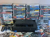 Sony PlayStation 2 Slim or fat PS2 Console Bundle  6 Games, With memory card