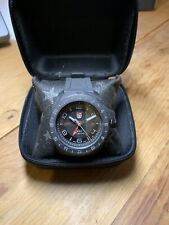 Luminox SXC PC Carbon GMT Swiss Made Date Analog Black Silicone Band Watch