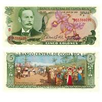 Pick 236 Costa Rica 5 Colones 1983 Unc. / 294247vvv.